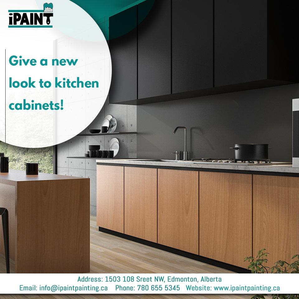 Kitchen Refacing in Edmonton - iPaint Painting
