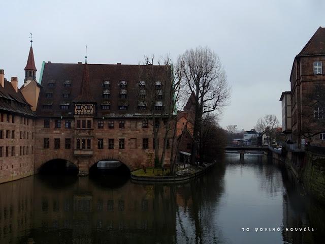 Ο ποταμός Pegnitz στη Νυρεμβέργη της Γερμανίας / Pegnitz River in Nuremberg, Germany