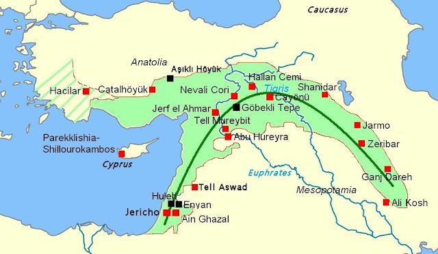 fertile crescent, circa 7500 BC