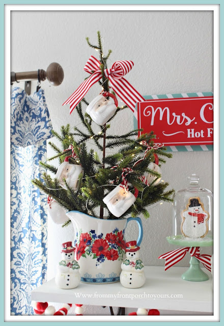 Breakfast -Nook -Christmas -Decor-Santa-Mug-Christmas-Tree-Mini-Farmhouse-Style-Cottage-Style-Pioneer Woman-From My Front Porch To Yours