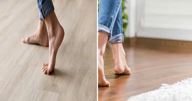 Lantai kayu nyaman di pijak