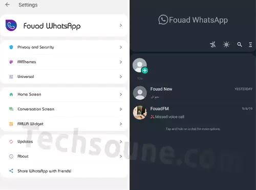 ميزات تطبيق Fouad WhatsApp