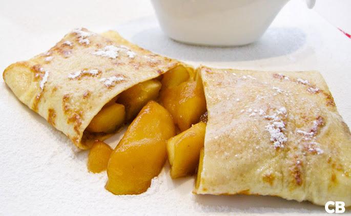 Recept Flensjespakketjes met gekaramelliseerde appeltjes
