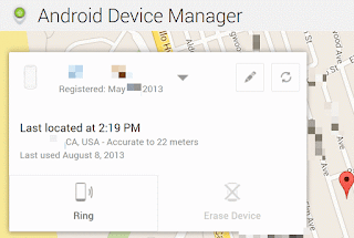 Android Device Manager Find Phone