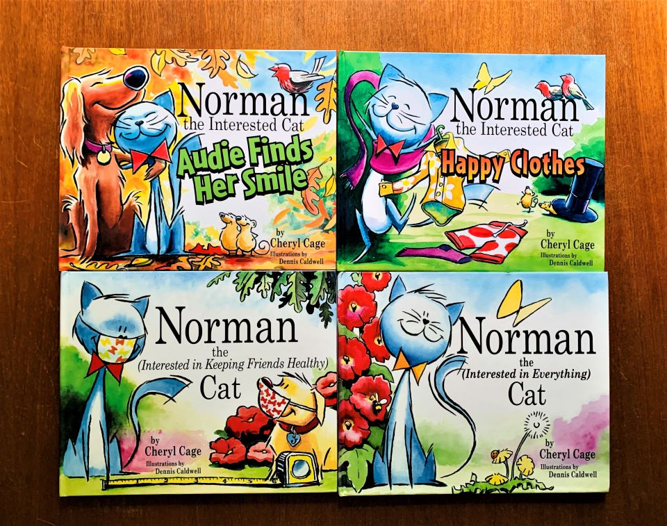 Norman The Interested Cat books