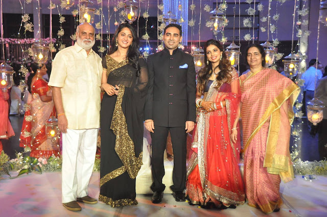 Anushka-Shetty At K.Raghavendra Rao Sons Wedding(Prakash)