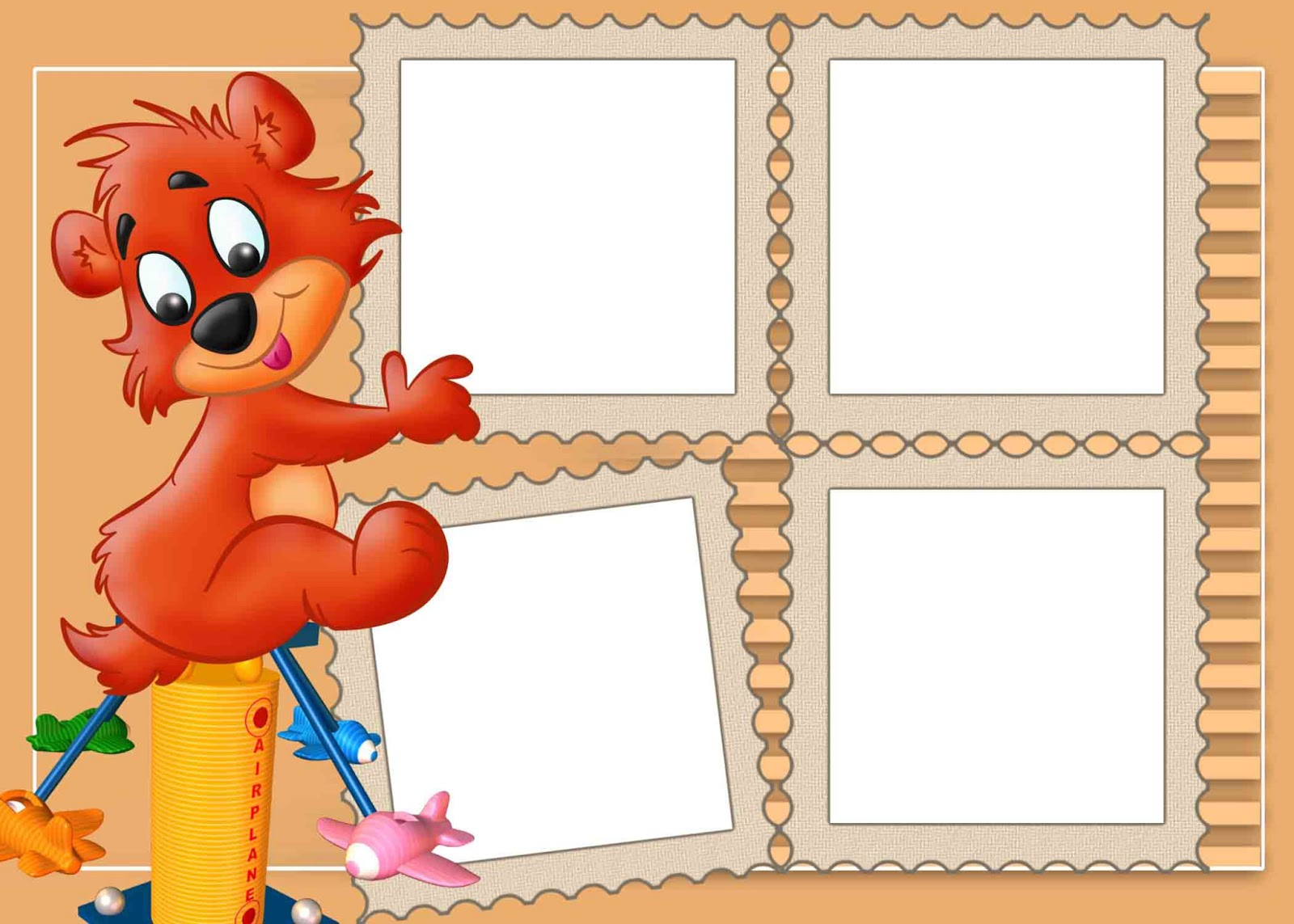 Frame for kids png png frame - Marco de fotos multiple ...