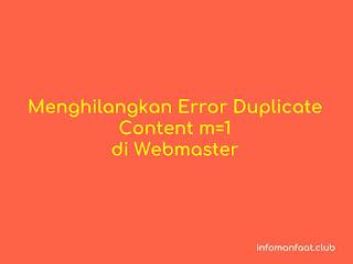 menghilangkan duplicate content m=1