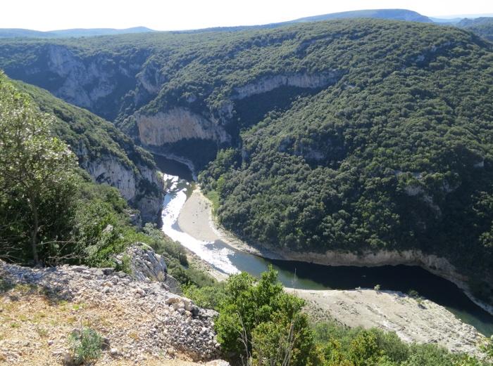 la rivière de l'Ardèche