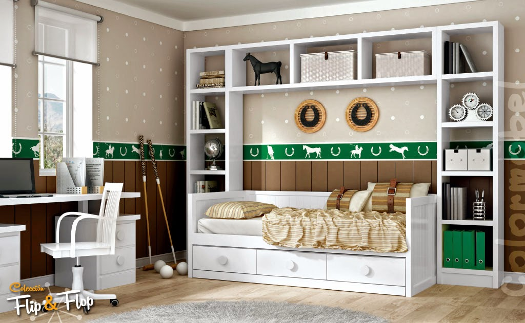 Dormitorios juveniles con puente for Mueble puente juvenil