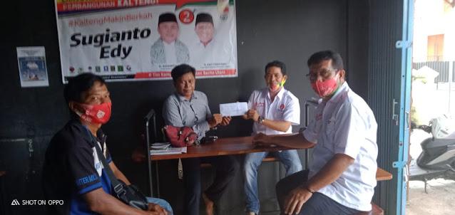 Ketua Tim Relawan Kalteng Berkah Barito Utara, Sambangi Kantor Sekretariat Tim Pemenangan