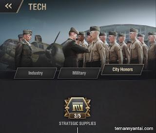 City Contribution Badge dan City Honors Tech di Game Warpath