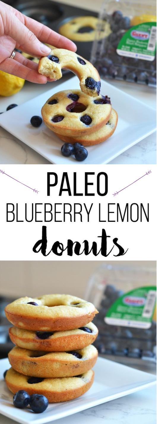 PALEO BLUEBERRY LEMON DONUTS #paleo #lemon #diet