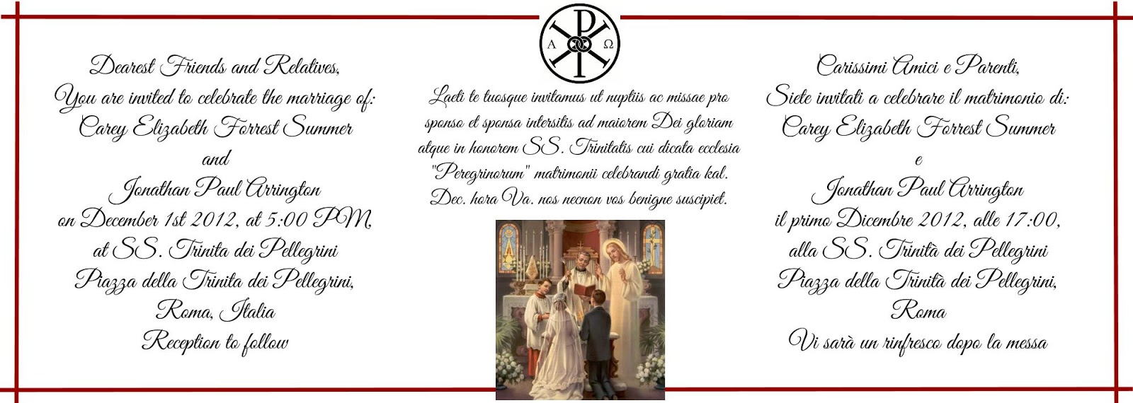 How To Write Invitation For Wedding: Orbis Catholicus Secundus: How To Write A Wedding