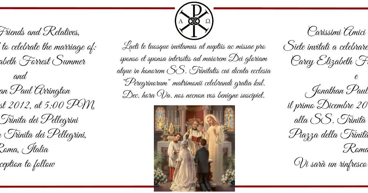 How To Write Out A Wedding Invitation: Orbis Catholicus Secundus: How To Write A Wedding