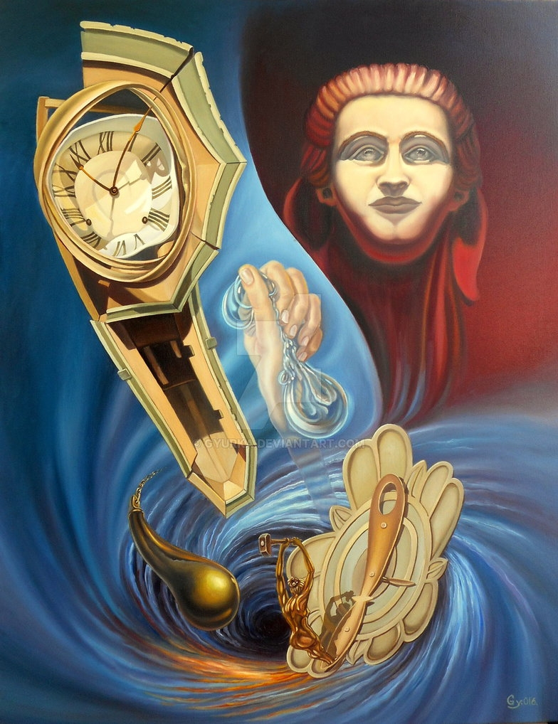 01-Against-The-Time-Gyuri-Lohmuller-Complex-Surreal-Paintings-that-make-you-Think-www-designstack-co