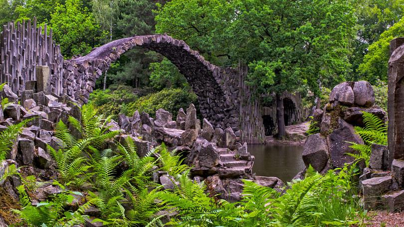 rakotzbrücke germany, circle bridge germany, rakotz bridge, circle bridge germany, germany bridge, gablenz germany, bridge in germany, famous bridge in germany, devil's bridge