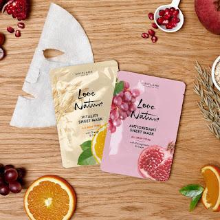 Produk Oriflame - Sheet Mask Untuk Kulit Wajah Cantik Merona
