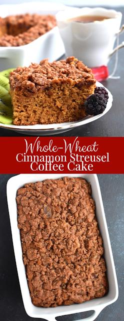 Whole-Wheat Cinnamon Streusel Coffee Cake