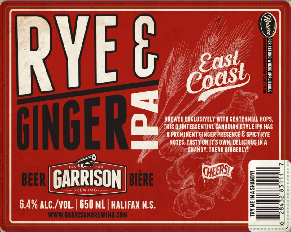 maritime beer report garrison brewing releases rye ginger ipa