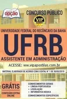 Apostila UFRB 2019 -ASSISTENTE EM ADMINISTRAÇÃO.