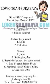 Lowongan Kerja Surabaya Terbaru di Toko PTC Juni 2019