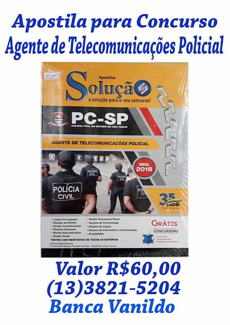 Apostila para o Concurso de Agente de Telecomunicações Policial