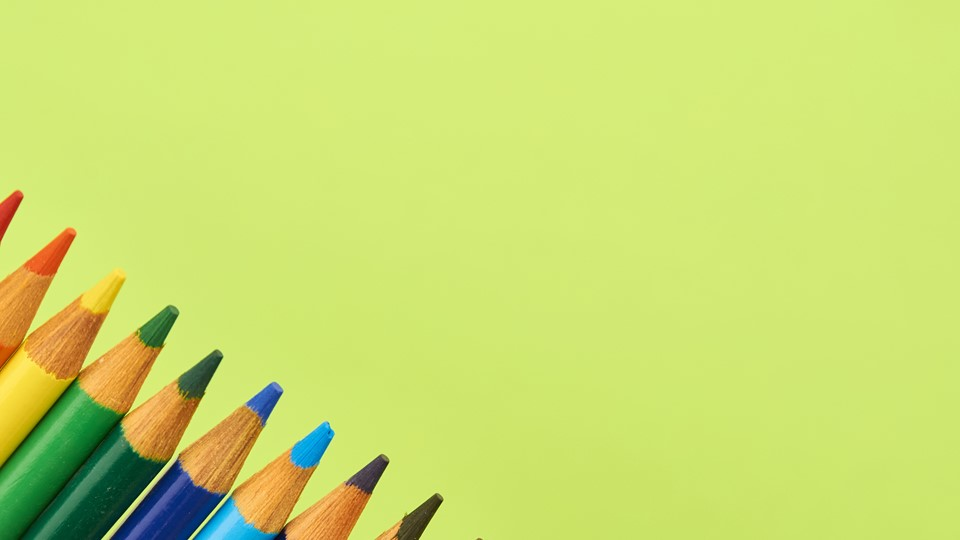 Back to school background with pens