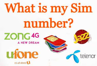 How to check your own Sim Number - Zong - Telenor - Jazz - Ufone