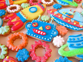 Galletas decoradas robots
