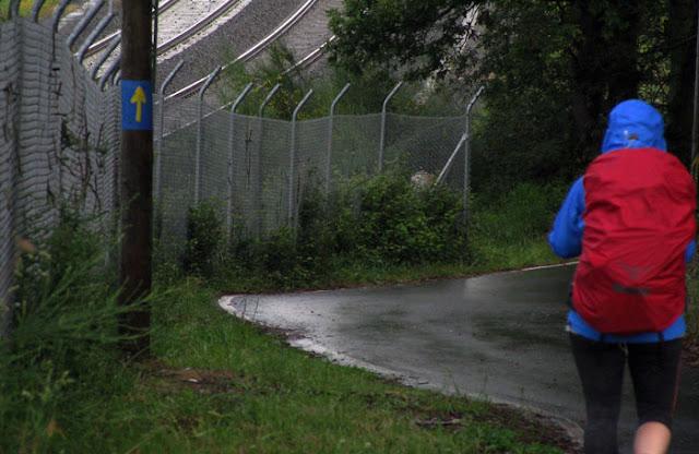 chuva no Caminho de Santiago de Compostela