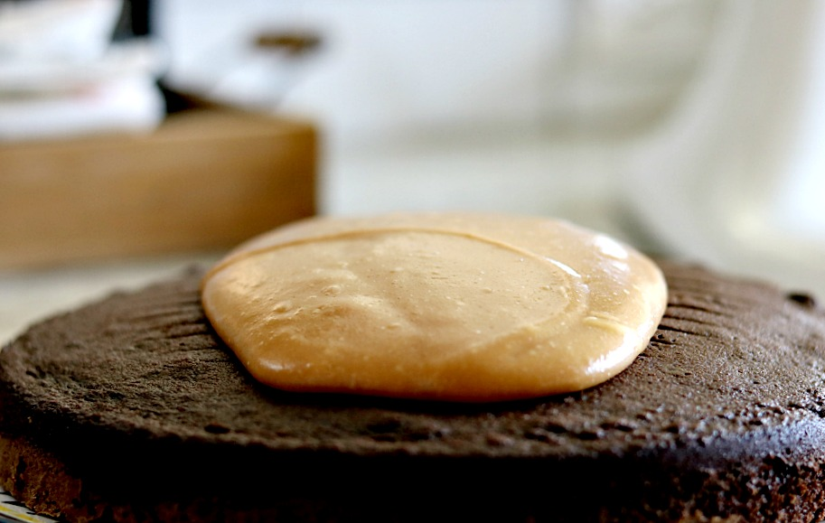 caramel-frosting-scratch-icing-homemade-cast-iron-skillet