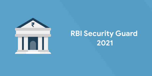 RBI SECURITY GUARD SYLLABUS 2021