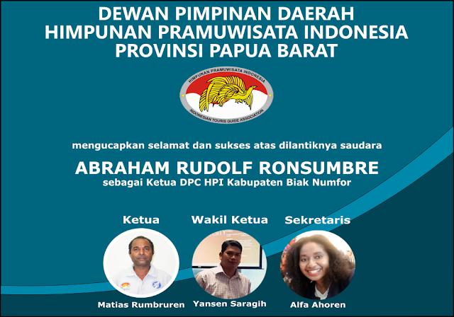 Dpd hpi papua barat ucapkan selamat kepada dpc hpi Kabupaten Biak Numfor