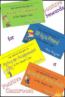 Reward positive behavior with positive passes for kids.