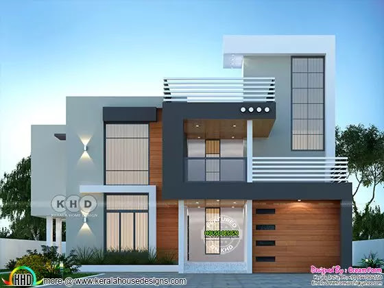 6 bedrooms 4350 sq. ft. modern home design with swimming pool on second floor