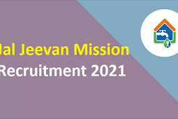 Jal Jeevan Mission Recruitment 2021   Project Specialist & Public Relation Officer Posts