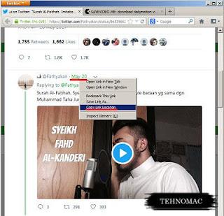 cara yang benar menyimpan video twitter
