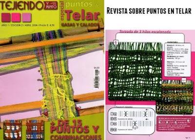 Revista telar con 15 puntos y combinaciones