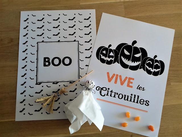 Affiches rigolotes halloween à imprimer gratuites tête de coucou