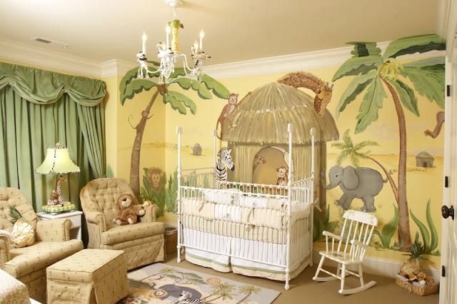 thème jungle chambre bébé