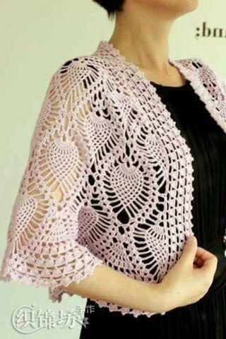 Patrón #1727: Lindo Chal Redondo a Crochet