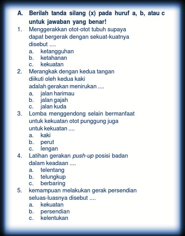 Soal Pelajaran Pjok Kelas 3 Sd