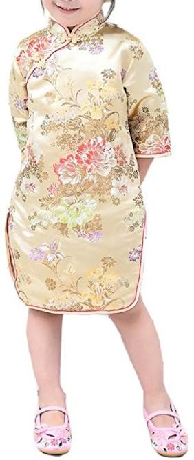 Girls Cheongsam Qipao Dresses For Children