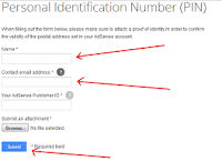 How I verified my AdSense PIN with my International Passport.