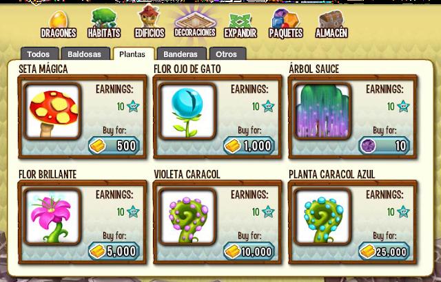 todas las plantas de dragon city