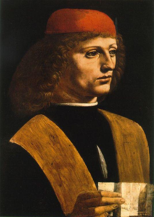 Portrait of Unknown Musician (1485), perhaps Franchino Gaffurio or Galeazzo di Sanseverino