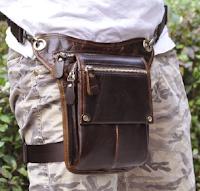 Steampunk utility bag thigh bag leg bag waist strap