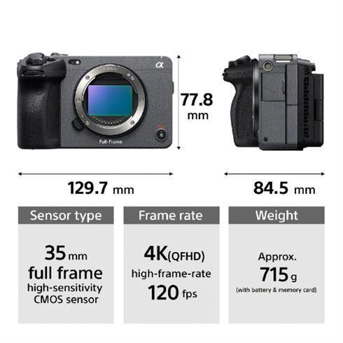 Габариты и основные параметры Sony FX3
