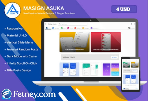 Masign Asuka Blogger Template